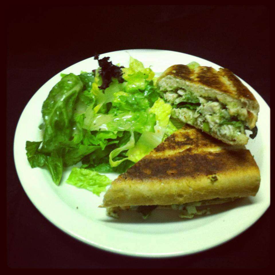 Pesto Chicken Salad Panini