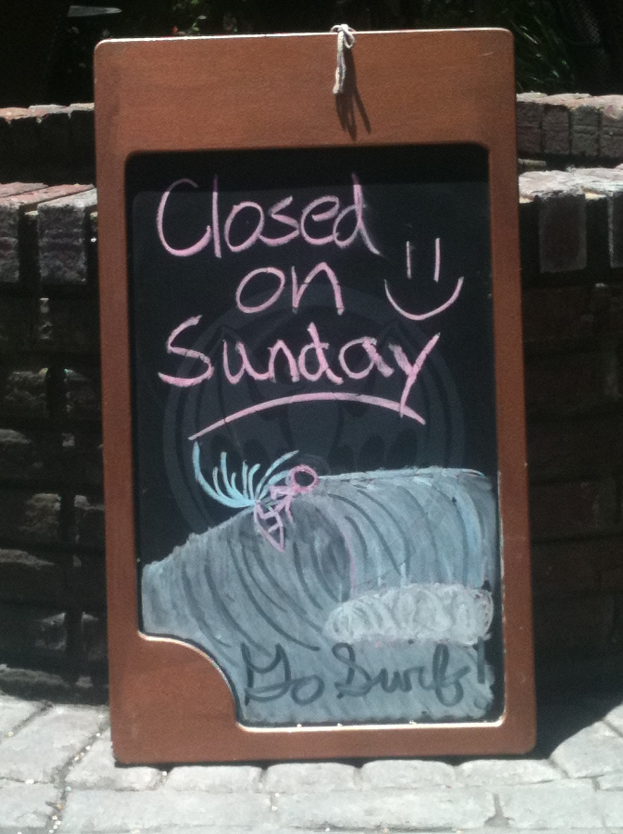 Closed on Sundays